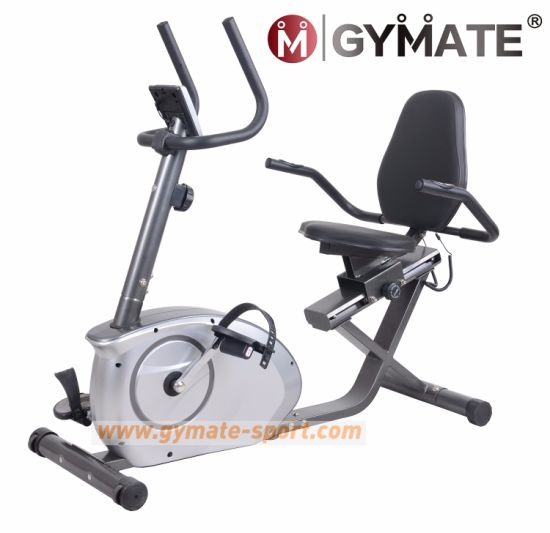 Gymate Sporting Goods Fitness Cardio Magnetic Stationary Upright Spin  Exercise Recumbent Bike