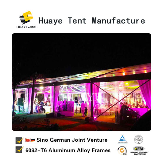 20x30m Clear Wedding Tent With Beautiful Decoration Hy009