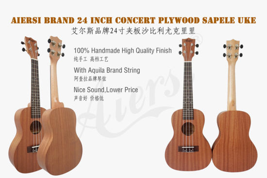 Wholesale Price Cheap Price 24 Inch Concert Mahogany Ukulele for Sale pictures & photos