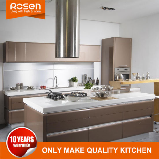 Stainless Steel Dark Clean Design Kitchen Cabinets Home Furniture