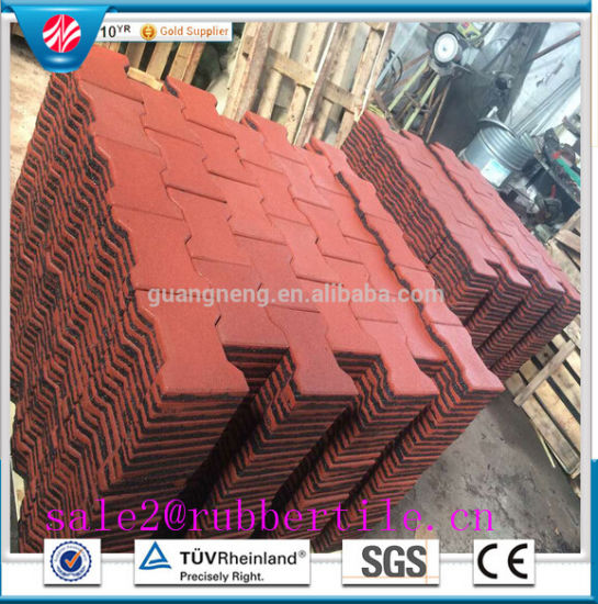 Playground Rubber Tile, Playground Rubber Paver, Bone Rubber Flooring Tile pictures & photos
