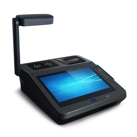 Ce FCC Bis EMV Certified Andoid All in One POS with Barcode Scanner pictures & photos