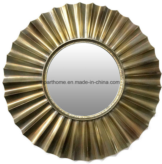 Home Decoration Classic Art Wall Decor Accent Metal Mirror