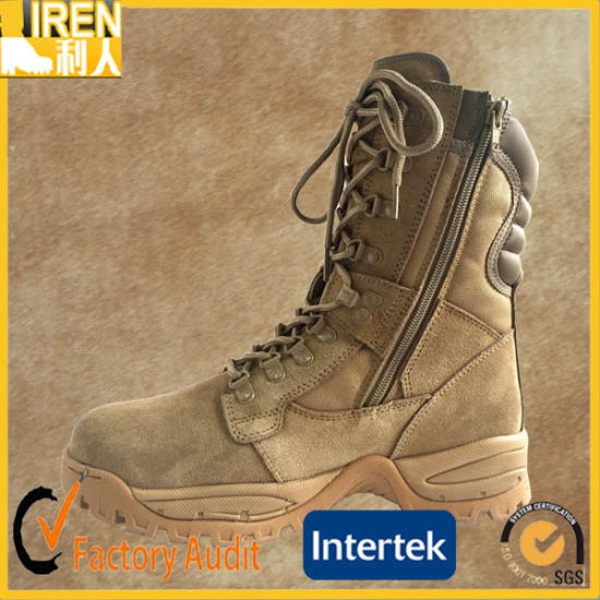 New Design Breathable and Durable Suede Cow Leather Cheap Military Desert Boot