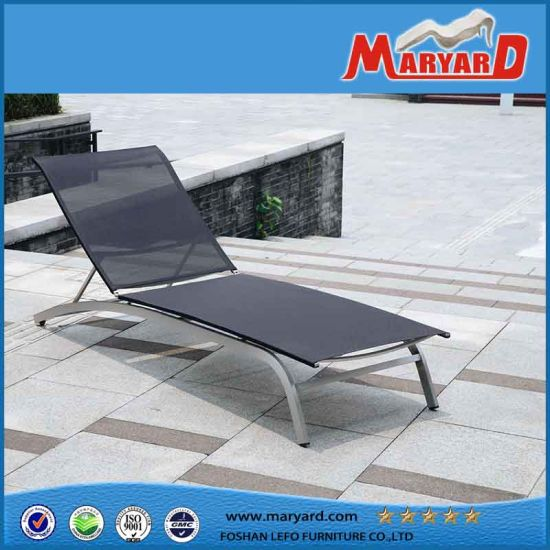 New Design Outdoor Furniture Mesh Fabric Beach Sun Lounger