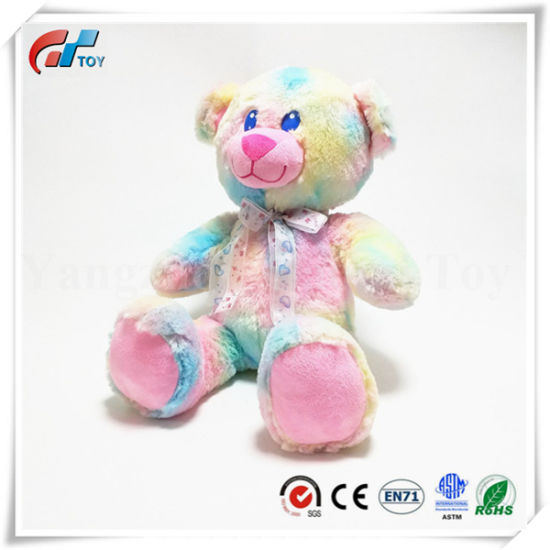 Popular Design Sublimation Printing Soft White Teddy Bear with Ribbon / Bowtie