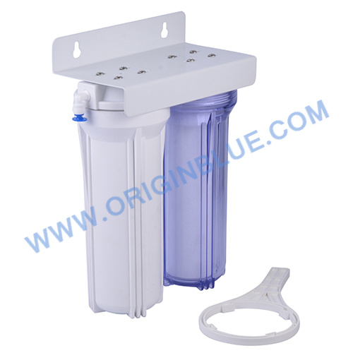 Double Stages Water Filter with One Transparent Housing