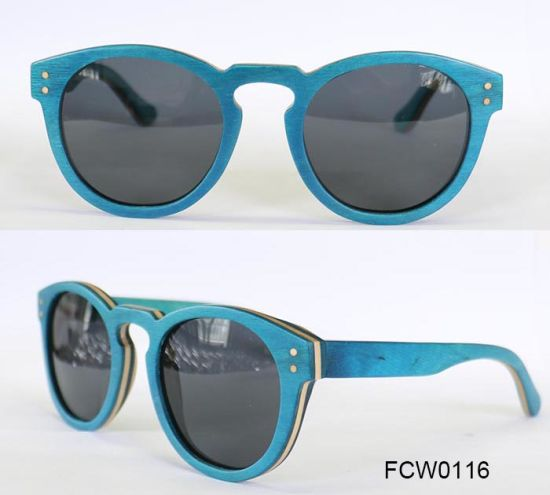 Top New and Light Wooden China Manufacturers Eyewear Frame Sunglasses