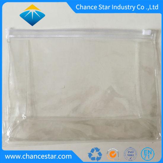 Custom Transparent Cosmetics Storage PVC Zipper Bag