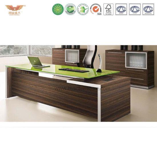 L Shaped Executive Desk High Quality Modern Office Furniture L Shape Wood  President Desk
