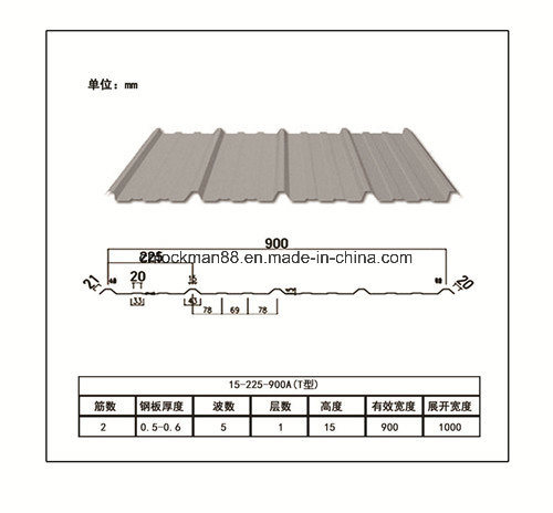 Corrugated Iron Metal Roofing Tile Sheets Zinc Coated for Building Material pictures & photos