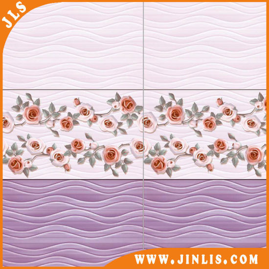 Building Material Purple 3D Printing Flower Bathroom Ceramic Wall Tile pictures & photos