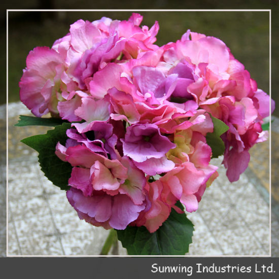 China New Design High Quality Artificial Flowers Hydrangea Spring
