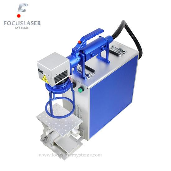 Focuslaser 100X100mm Ezcad Software Portable Fiber Laser Engraving Machine LED Laser Diode