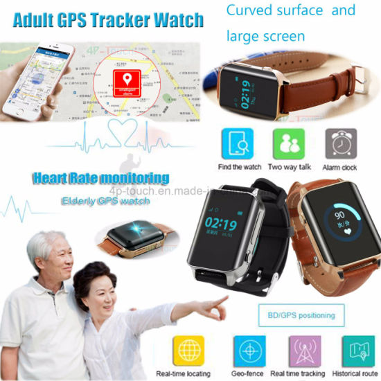 Sos Safety Adult GPS Tracker Smart Watch with Multi-Languages Y16 pictures & photos