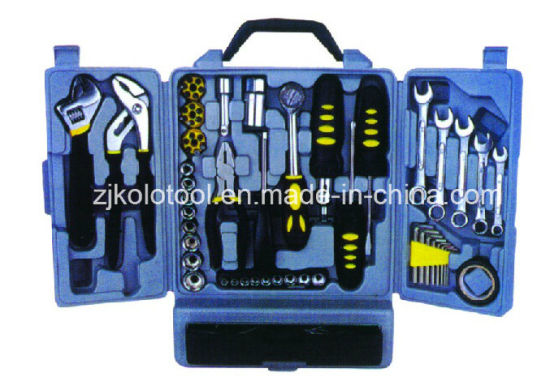 68PC Professional Hardware Tool Set with Ajustable Wrench
