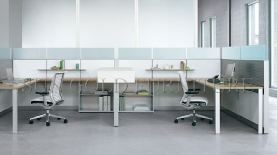 Modern Customized Partitions Wall Office Counter Table Design Cubicles  (SZ WS513)