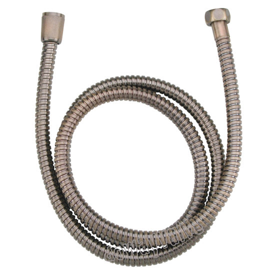 Brown Overlapped Winding Flexible Extension Shower Hose pictures & photos