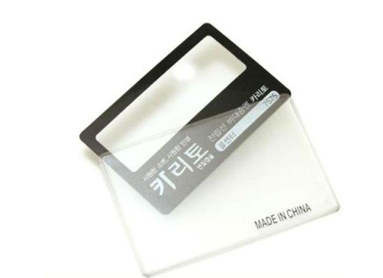 PVC 3X Credit Card Magnifier for Promotion Gift (HW-802) pictures & photos