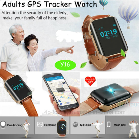 Elderly Sos Button GPS Tracker Watch with Fitness Tracking pictures & photos
