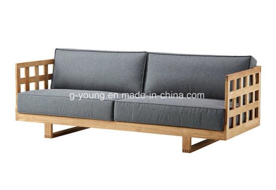 Cover Cushion Wood Frame Home Sofa Set