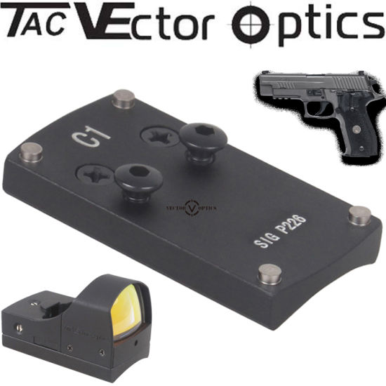Vector Optics Full Metal Tactical Mini Micro Pistol Scope Mount Base for Sig Sauer P226 Gun Accessries pictures & photos