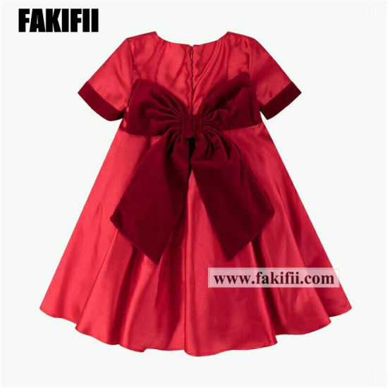 a43460e6268f Wholesale Kids Wear Fashion Children Apparel Girl Princess Red Dress Casual Summer  Clothes