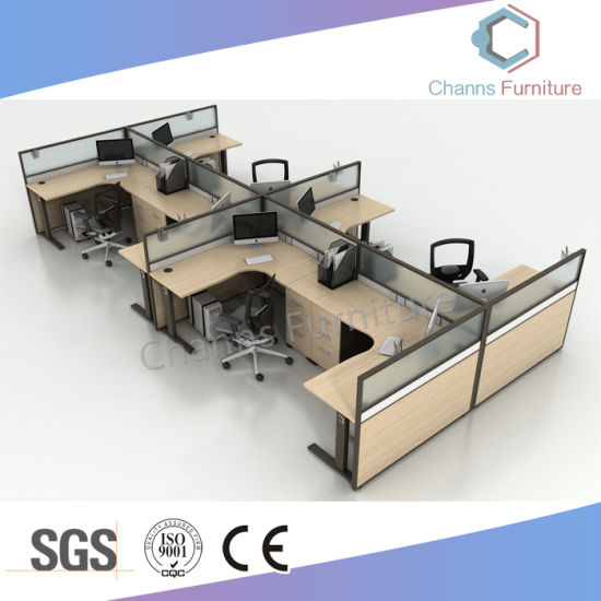 Modern Furniture L Shape Wooden Table Office Desk Workstation pictures & photos