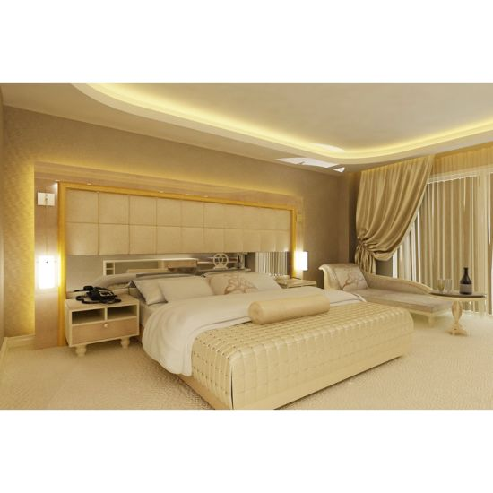 China Indian Hot Sale Plywood Hotel Furniture Bed Room Sets Modern
