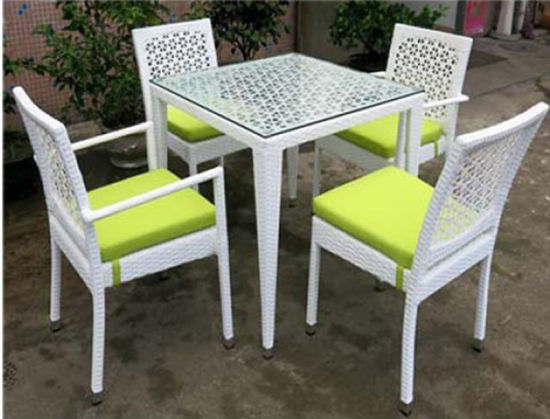 UV Resistant Restaurant Furniture Hotel Outdoor Garden Bar Stool Table Chairs