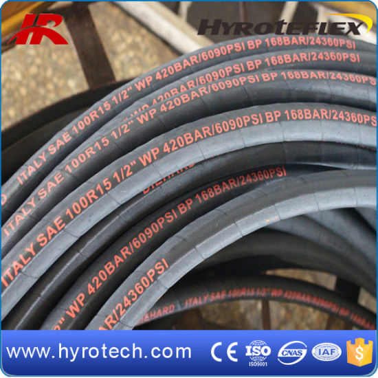 Construction Machinery Hydraulic Hose SAE100 R15 pictures & photos