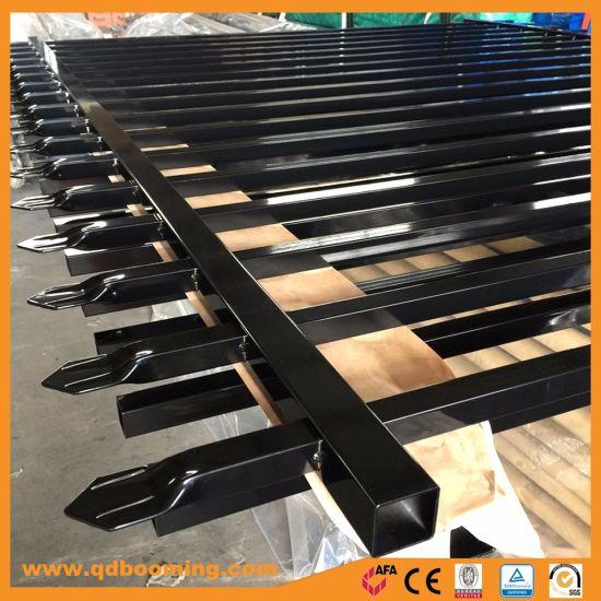Black Powder Coated Steel Fence Wholesale