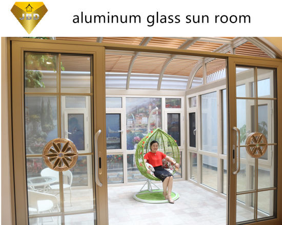 China Aluminium Profile Sliding Soundproof Doors With Double Glass