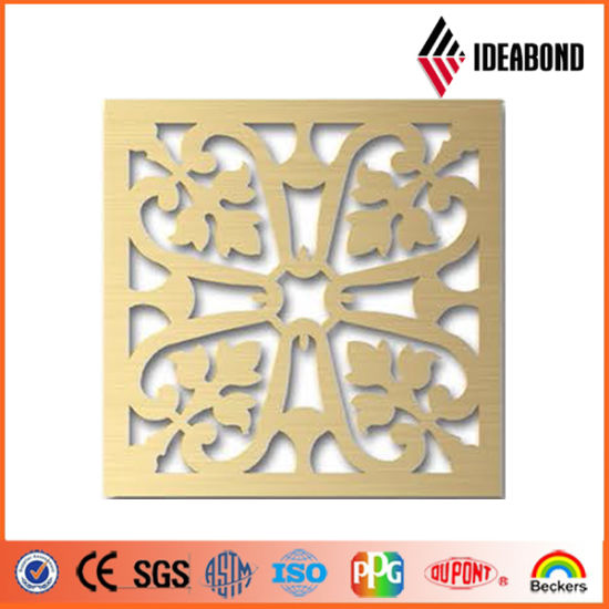Ideabond CNC Caving Designs on Aluminium Composite Panel Hot Sale in Construction Companies From China Supplier pictures & photos