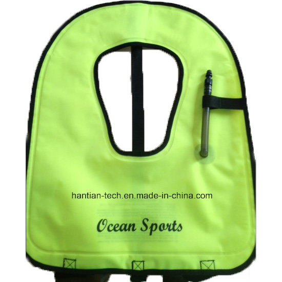 Inflatable Jacket Kids Swimming Vest Customized TPU Nylon Children Adult Swim Vest Safety Life Jackets