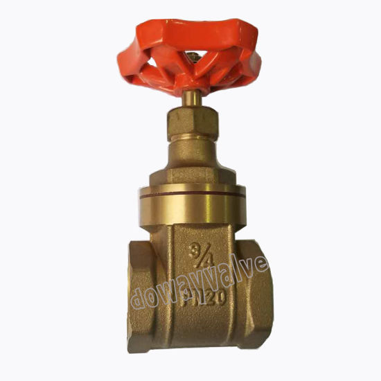 OEM/ODM Forged Brass Gate Valve for Irrrigation Water System with Iron Handle From Chinese Factory pictures & photos