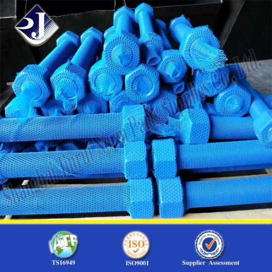 China SGS Stud Bolt with Blue PTFE Coating - China A193 B7 Stud