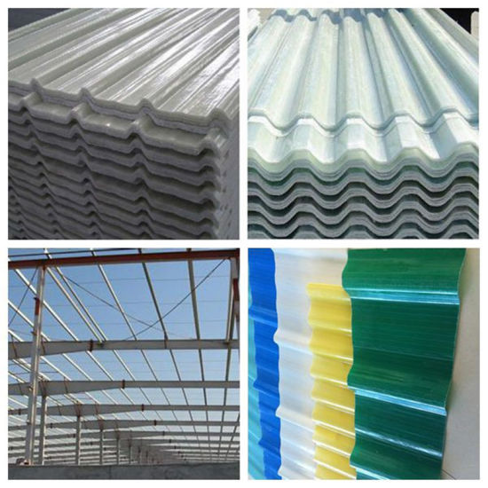 Highly Quality Translucent Daylighting Wave Panel FRP Corrugated Fiberglass  Sheets