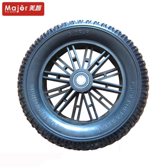 3.25-8 Blue PU Foam Bicycle Tire with PP Rim pictures & photos