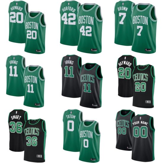 buy online 18296 b6b7e Boston Celtics Black/Green Swingman Statement/Icon Edition Basketball  Jerseys