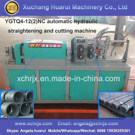Ygtq4-12 (2) Nc Automatic Hydraulic Steel Bar Straightening and Cutting  Machine