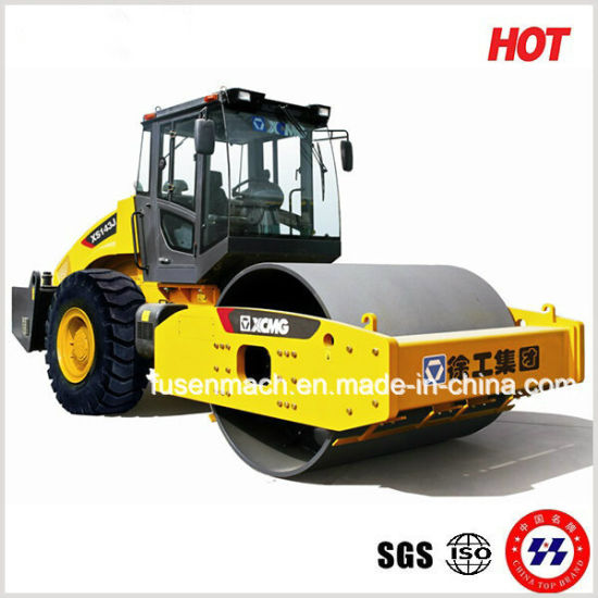14 Tons Mechanical Drive Single Drum Vibratory Road Roller Mini Road Roller Compactor Xs143j