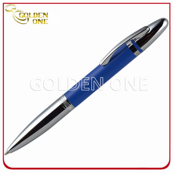 Business Gift Shiny Chrome Plated Metal Twist Gift Pen
