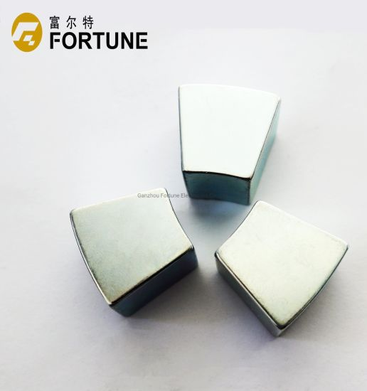 High quality strong rare earth permanent NdFeB magnet arc magnet for industry and motor