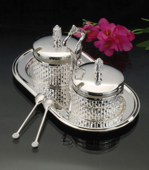 Grand Silver Plated Condiment Set (MG90012D)