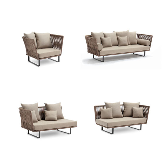 China Outdoor Two Seater Rattan Sofa