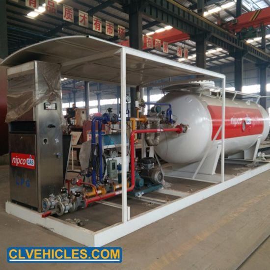 High Pressure 25000L LPG Filling Skid 10tons LPG Refilling Station for Cylinder Car Filling
