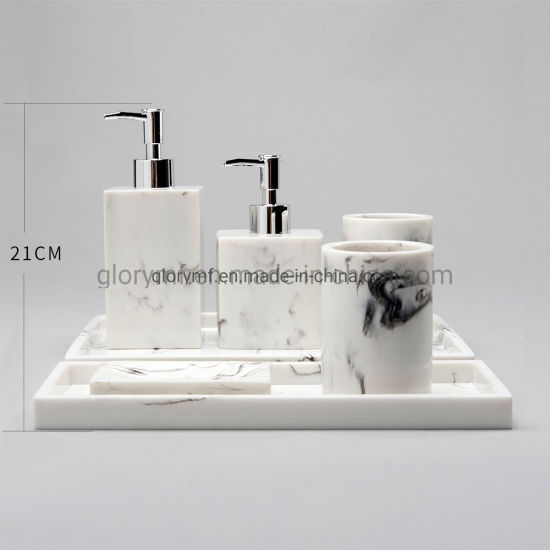 High Imitation Marble Polyresin Bathroom Accessory