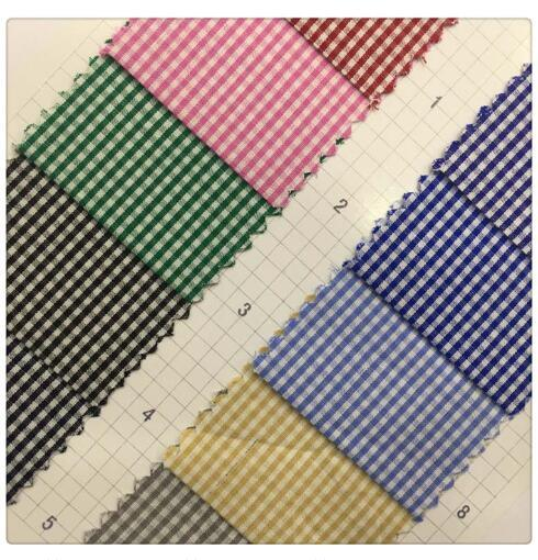 Twill Plain Check Shirt Apparel 100% Polyester Yarn Dyed Fabric for Cloth Garment Home Textile