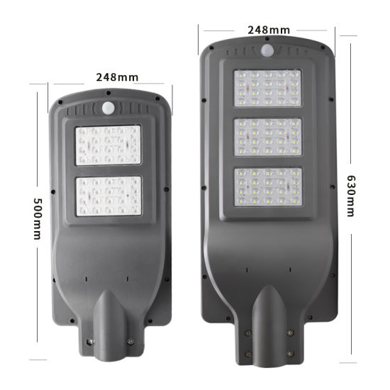Keou Outdoor Lighting Solar Products LED Lamp Integrated Solar Light LED Light Motion Sensor LED Street Light All in One Solar Street Light